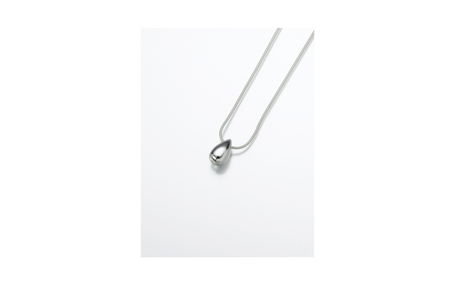 "Sterling Silver Slide Tear Drop Pendant     Measures 7/16""W x 7/8""H, Chain not included,  $160"