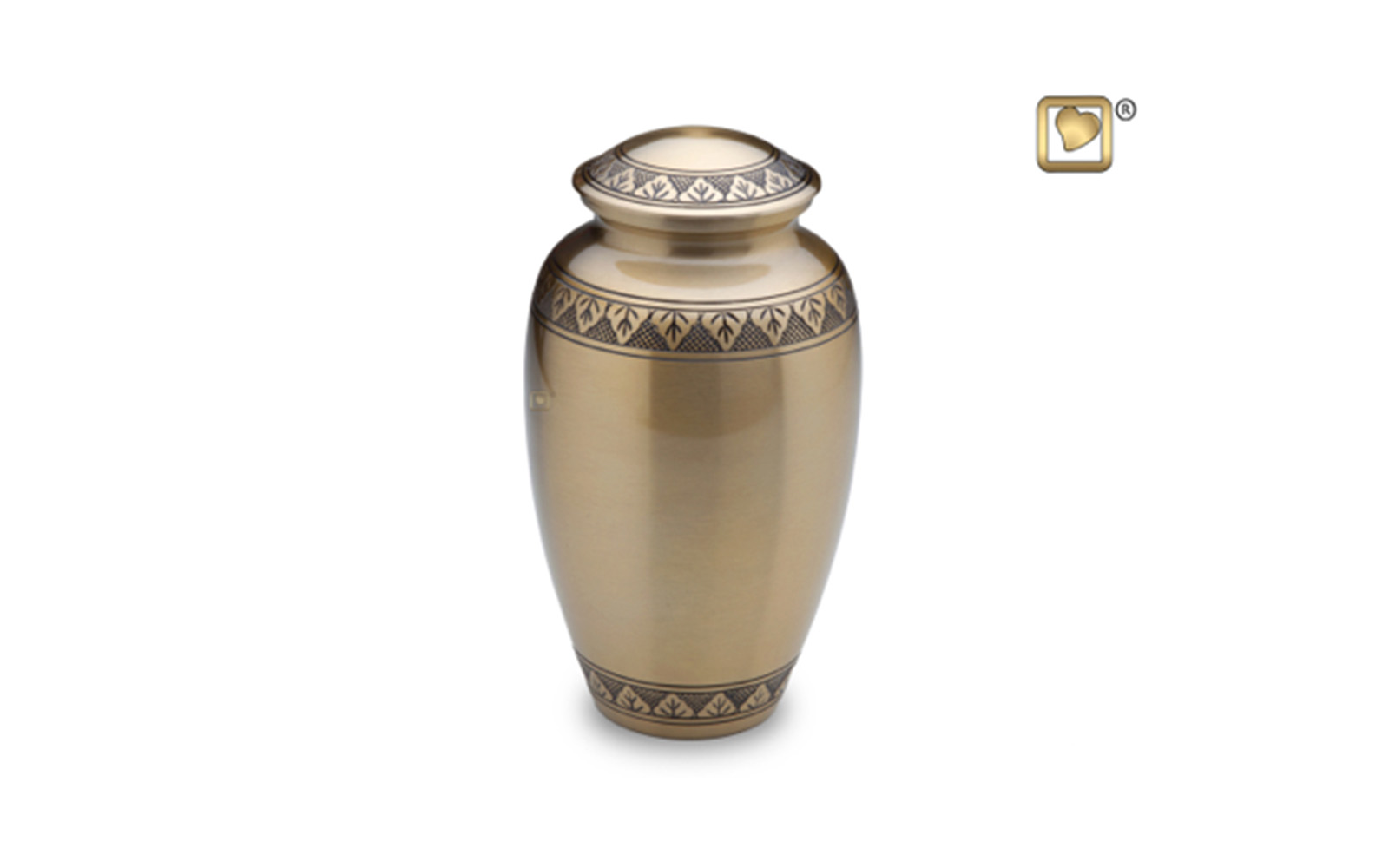 "Classic Gold Urn     Made of Solid Brass, comes in both Gold (shown) and Pewter color, measuring 10"" high, 200 Cu. inches, up to 195 lbs.,  $150"