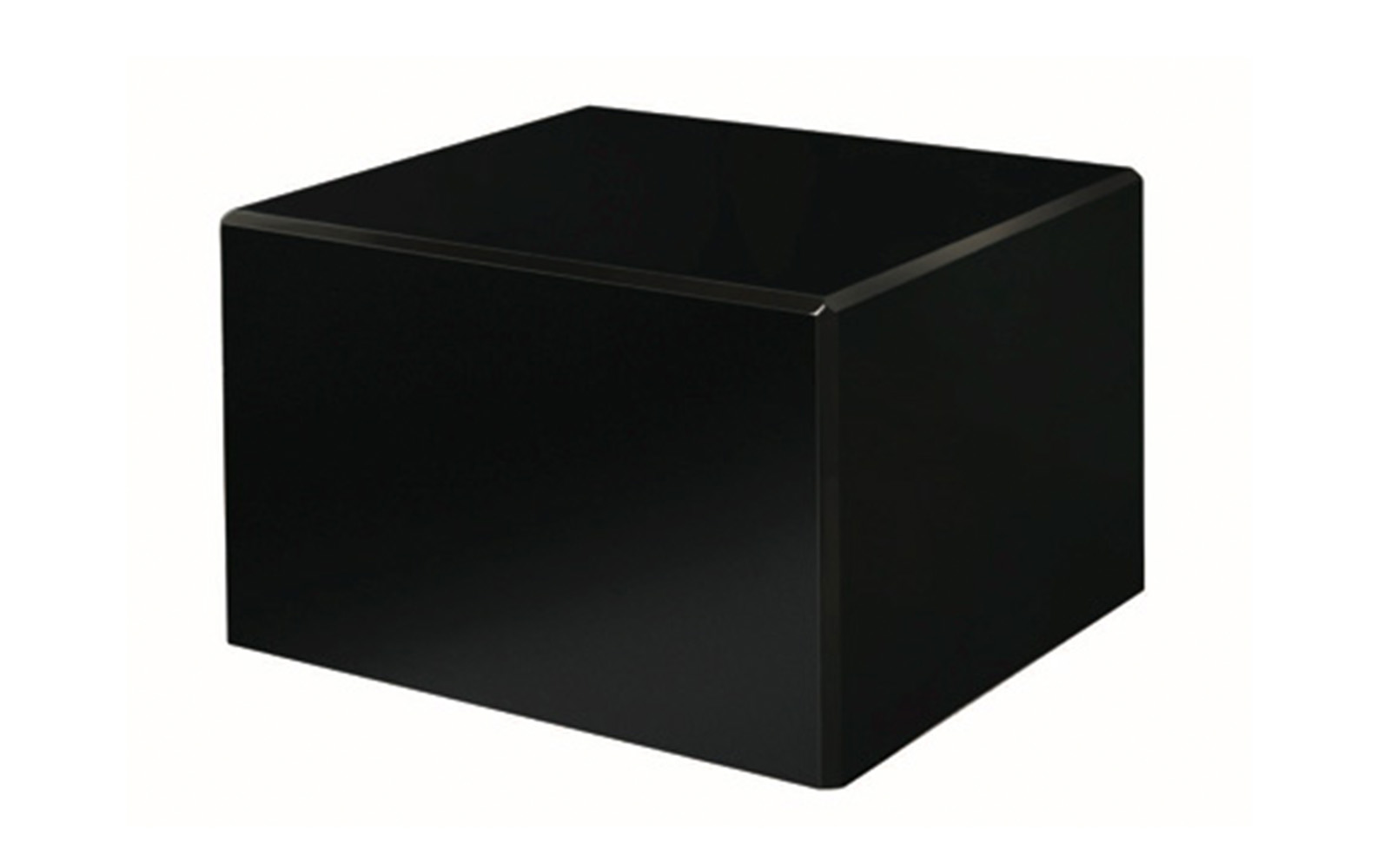 "Society Black   The sleek black design of this urn allows for a neat and polished memorial piece. This piece is simple yet refined to offer a commemorative of a beloved friend in any setting. This urn is available in small and large sizes only.   Small:  48 Cu. inches / up to 43 lbs. / 3.1"" x 3.1"" x 4.7""  $75    Large:  213 Cu. inches / up to 208 lbs. / 6.0"" x 7.7"" x 4.6""  $125"