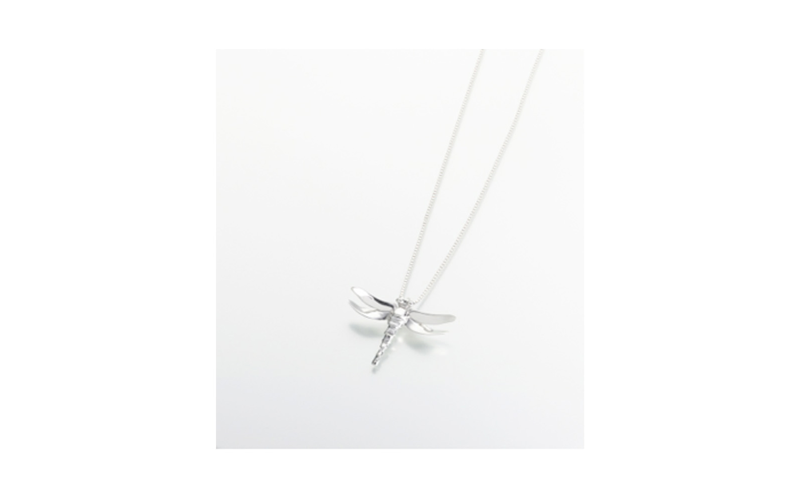 "Sterling Silver Dragon Fly Pendant   Measures 1-5/8""W x 1-1/4""H x 5/16""D, Chain not included,  $160"