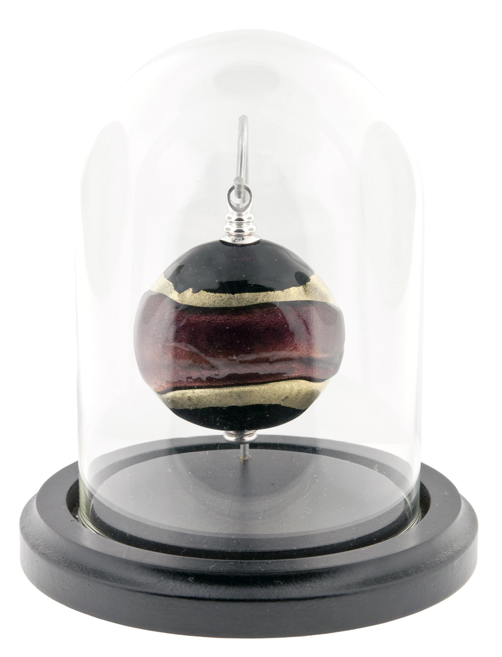 "Gilded Dreams Keepsake   Keepsake: 2"" W x 0.75"" D x 2.3"" H / 0.5 CI  Base and Glass Dome (included): 4"" Dia x 5"" H   $425"