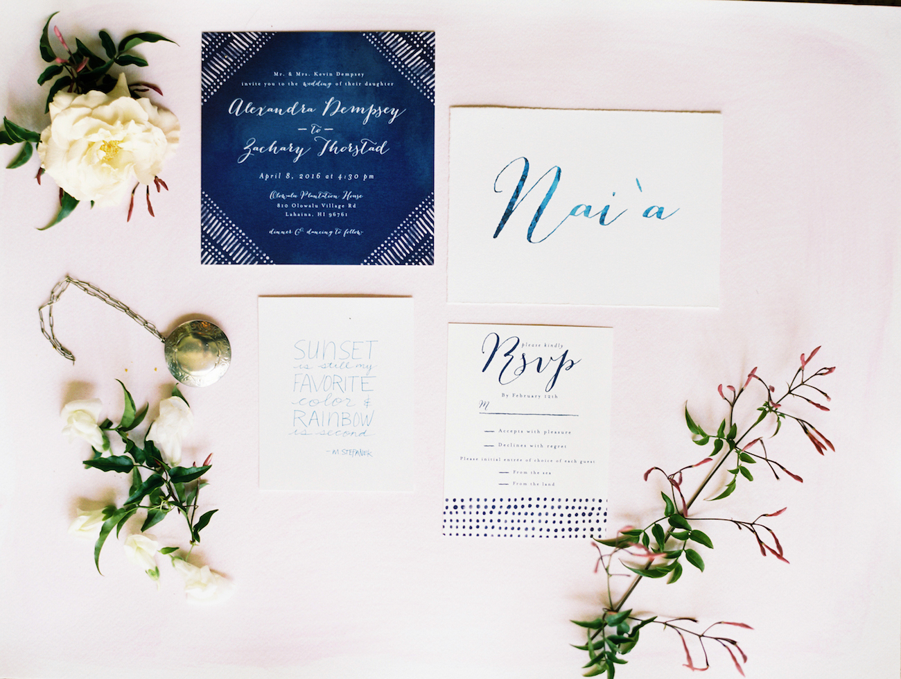 custom table numbers to match invitation suite