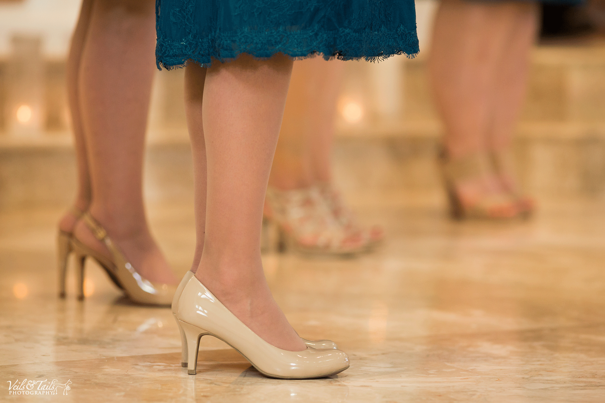 nude bridesmaid stiletto shoes