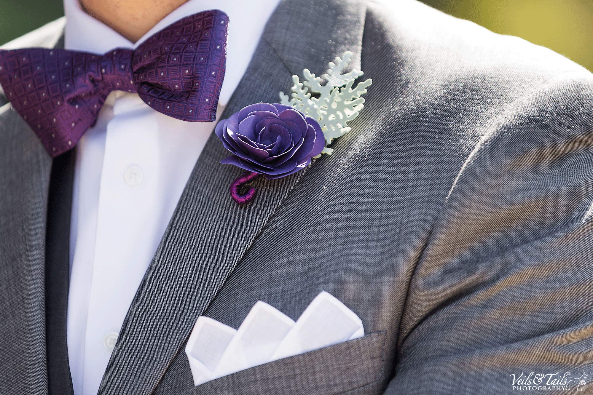 Purple wedding colors and florals