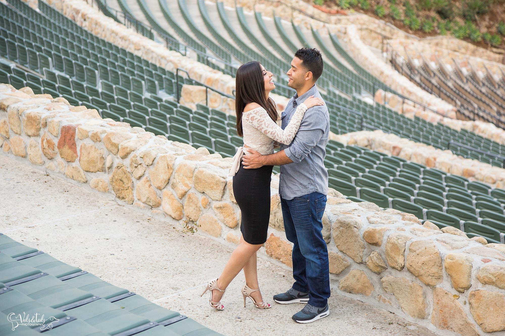 Santa Barbara Bowl Engagement Photography