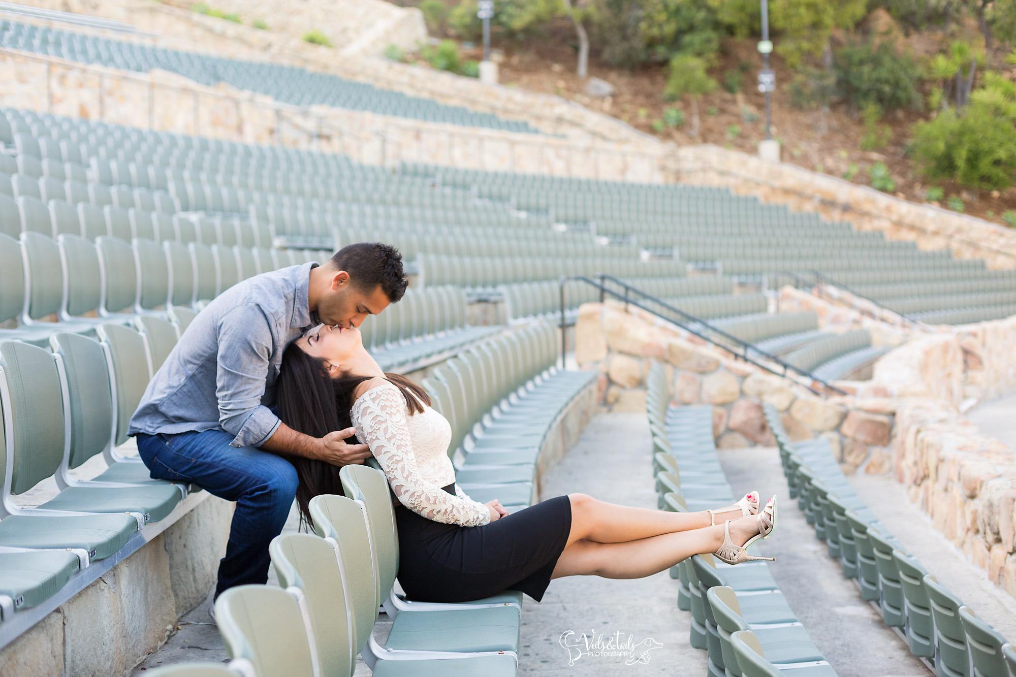 Santa Barbara Bowl engagement session photography