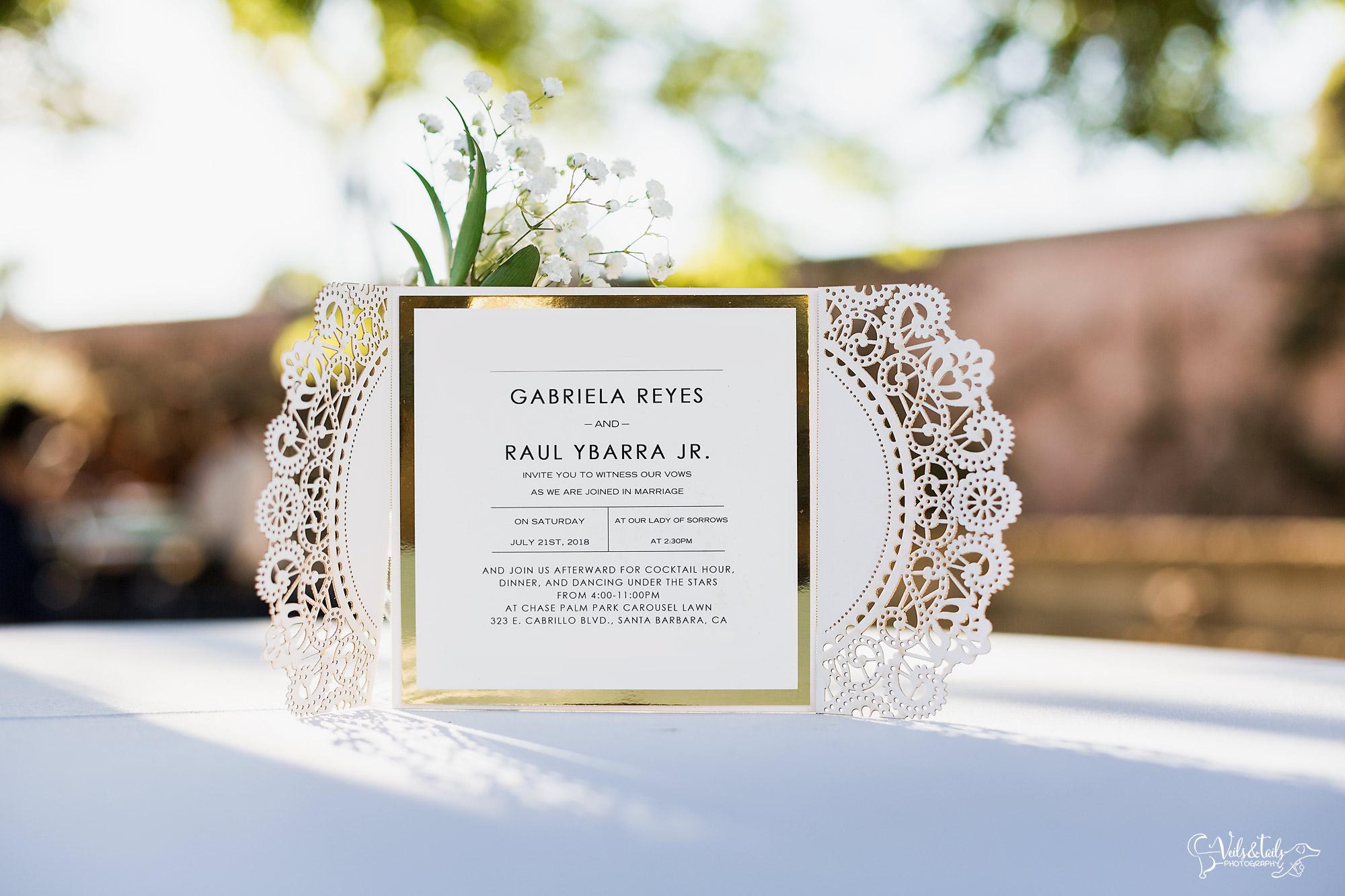 Wedding Invitation Suite Santa Barbara