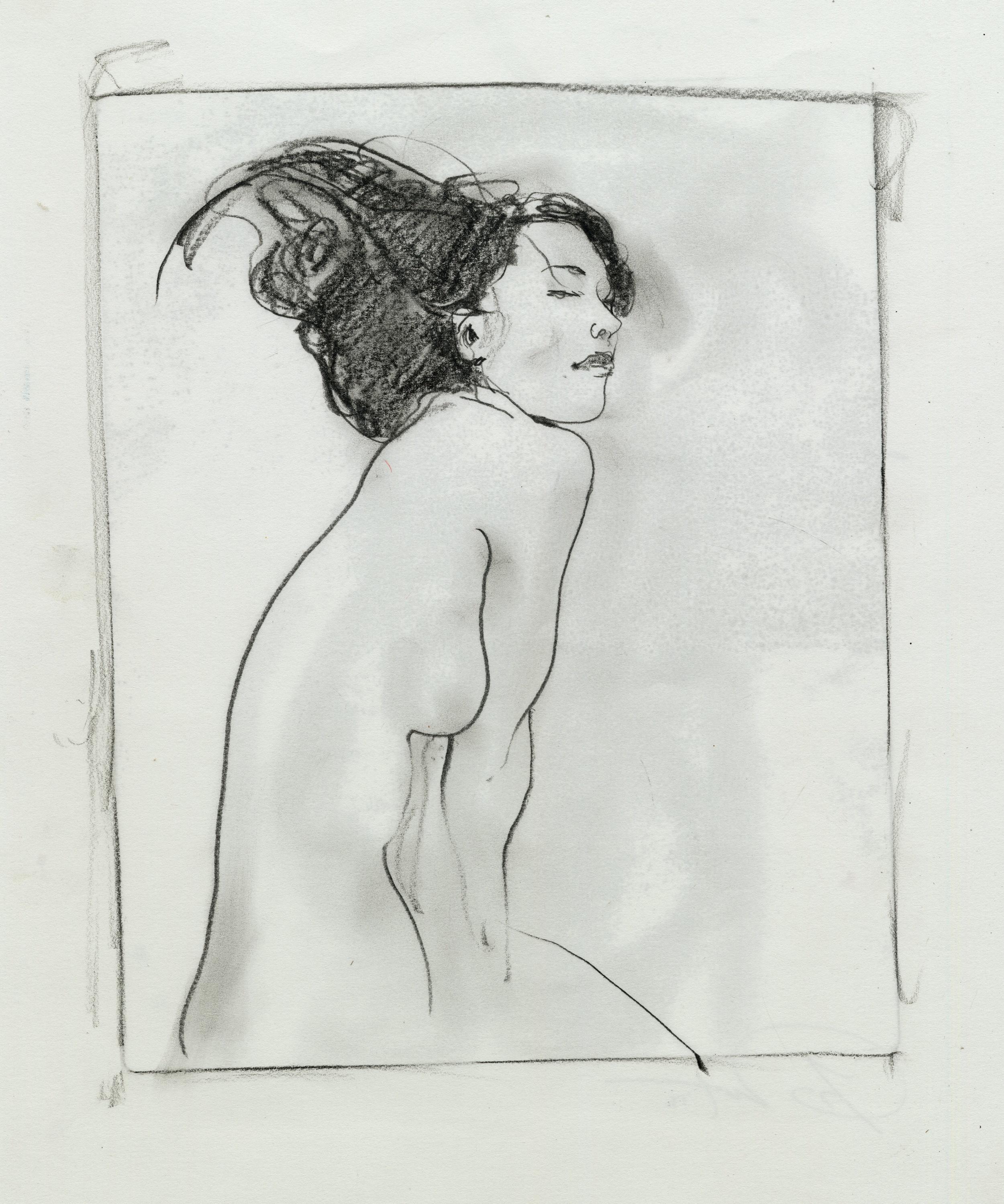 Girl Transfer pencil Monotype.jpg
