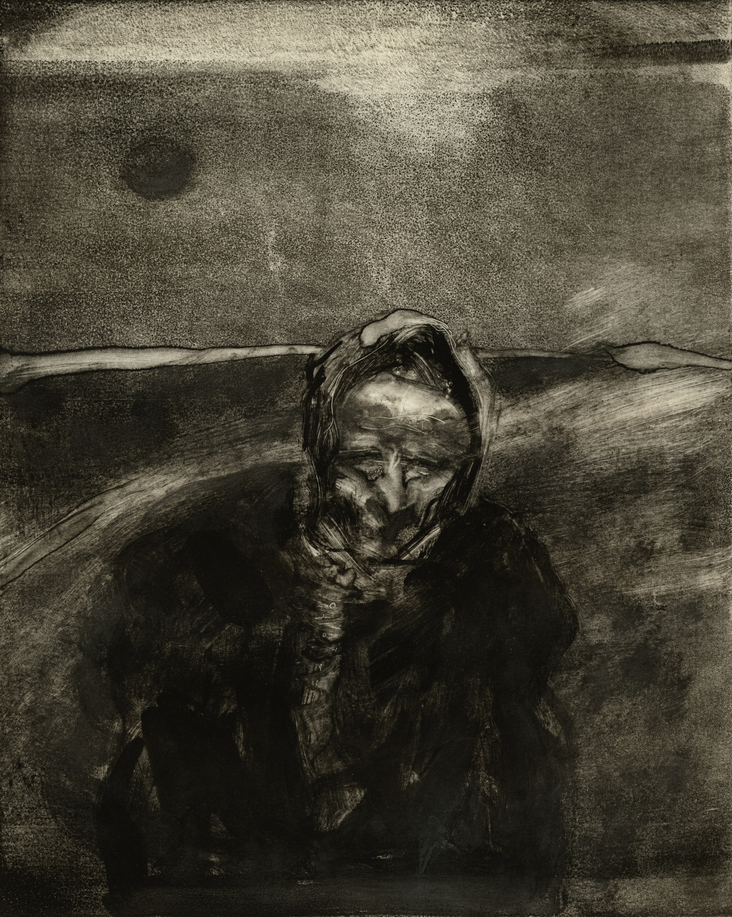 Widow With Shawl cropped Monotype.jpg