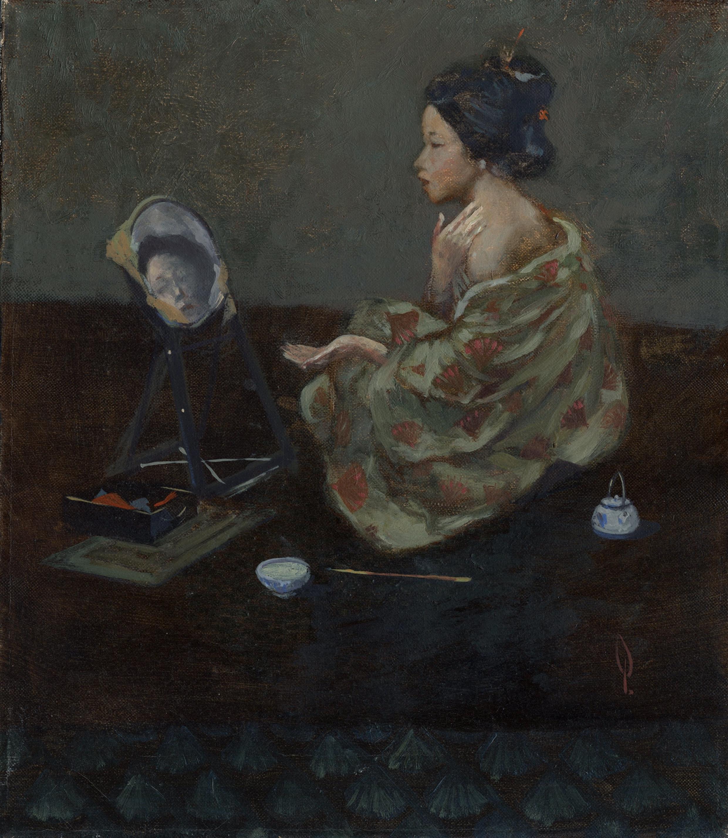 Geisha with Mirror