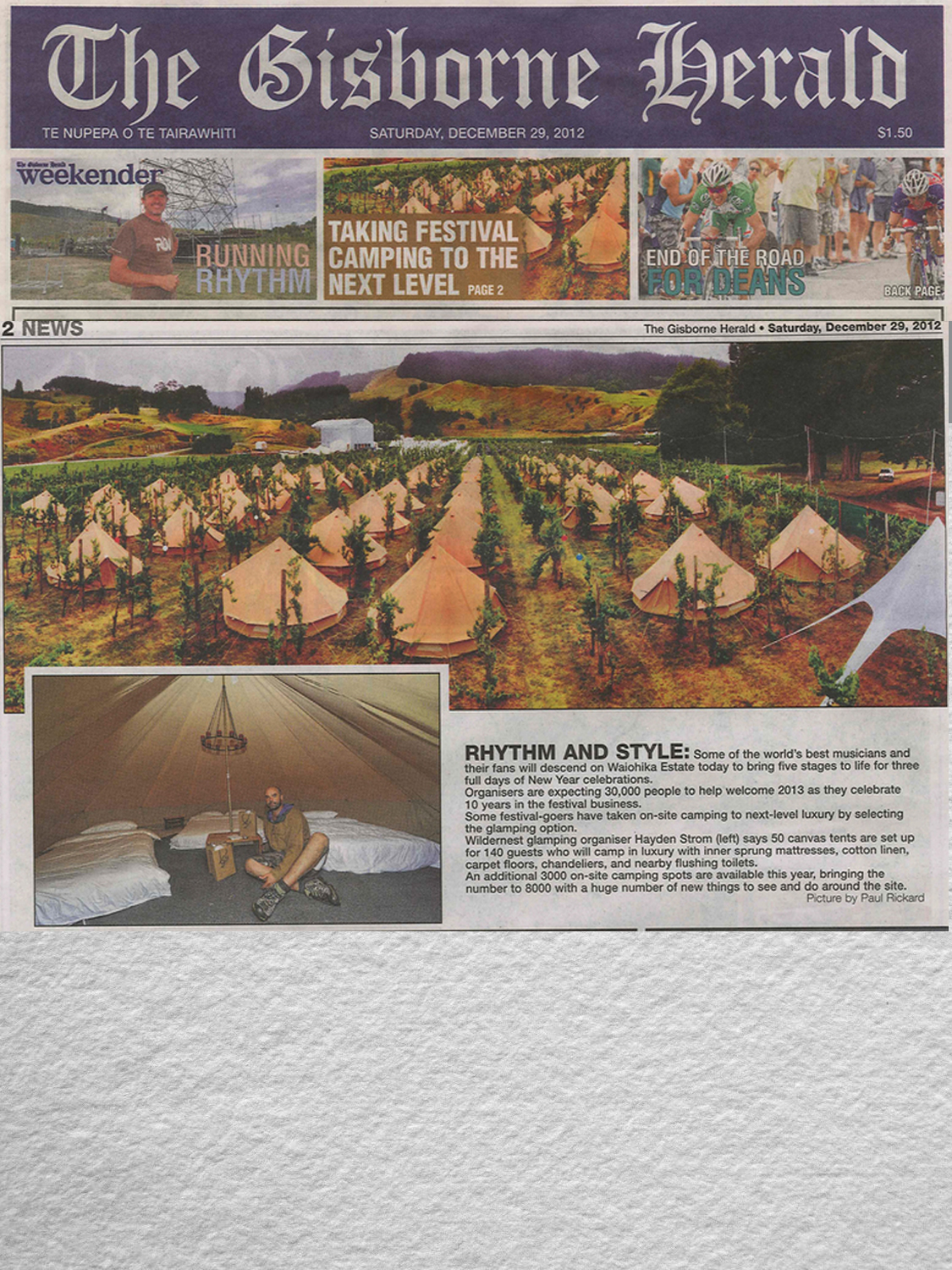 WILDERNEST IN THE GISBORNE HERALD