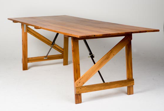 recycled rimu trestle table - 2200mm(L) x 900mm(W) x 700mm(H) - 1.jpg