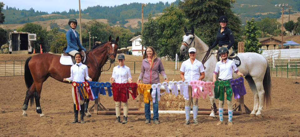 Hard working horses and riders!