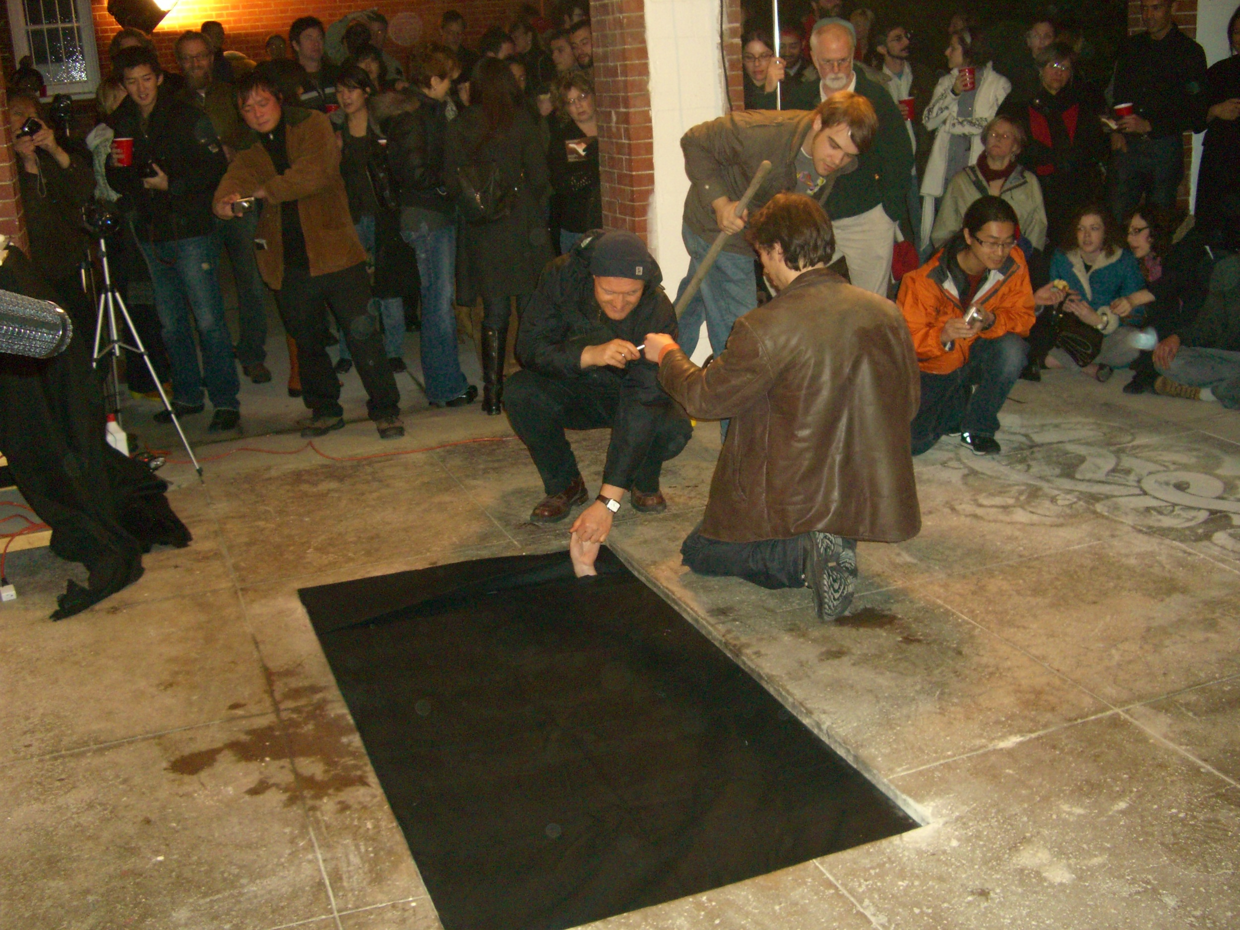 Calling A Stranger in the Hole by Scott Kildall for 100 Performances for the Hole, 2009