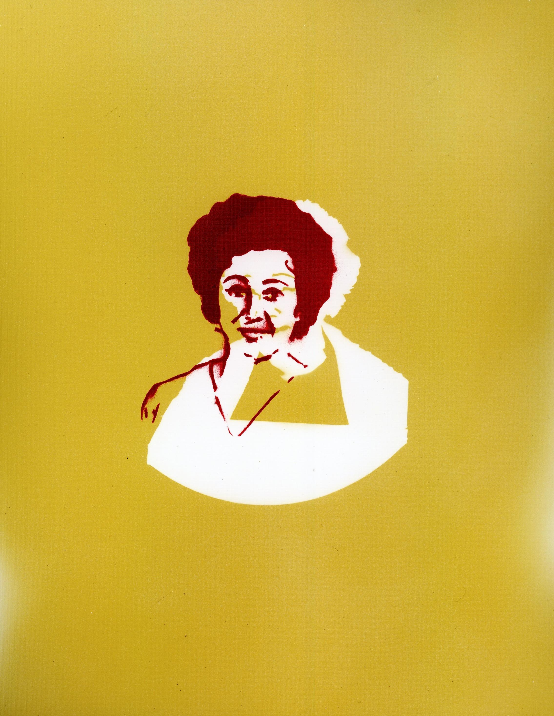 Tamara Liu, incense smoke oil and spray paint on paper, 2011