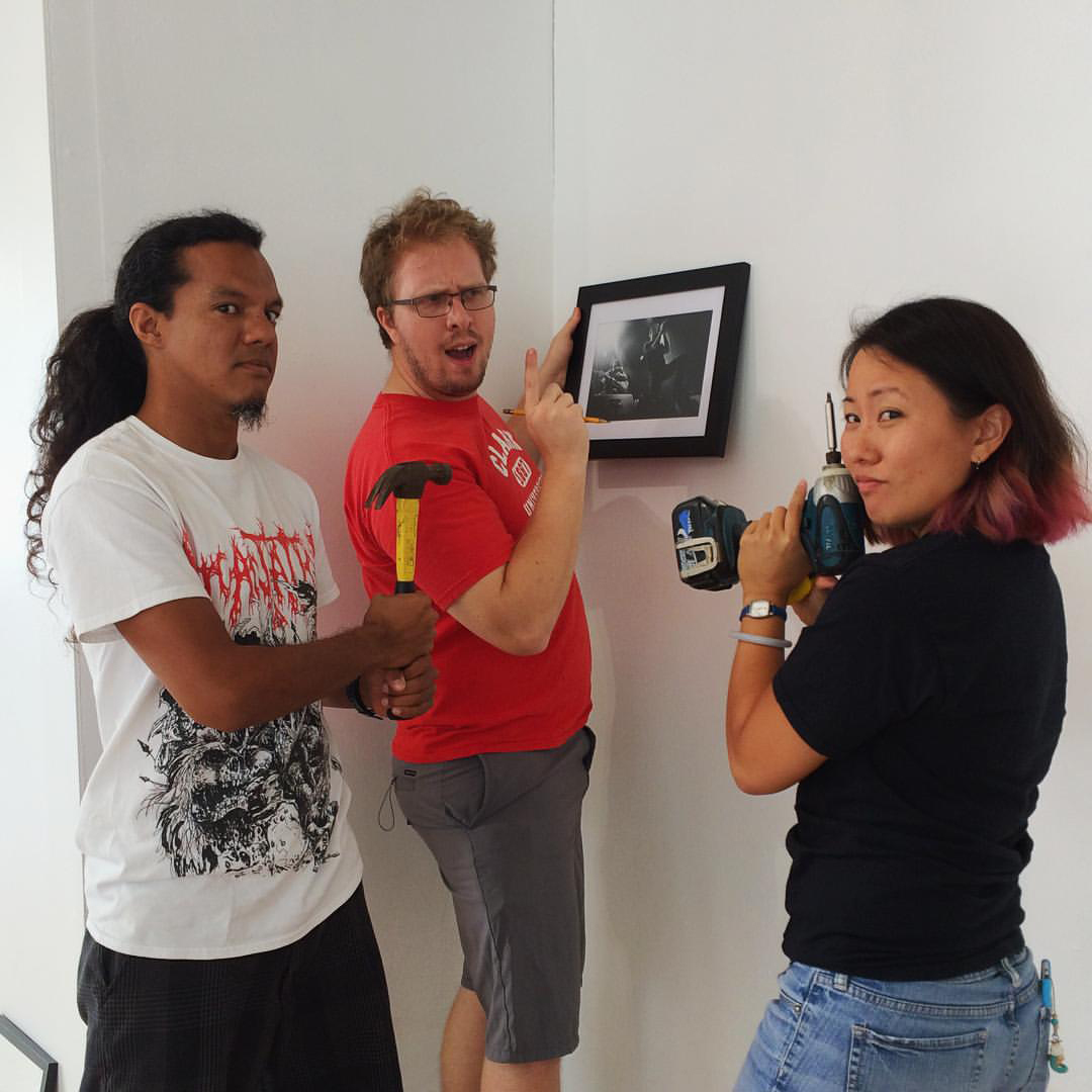 Here I am with the Charisma Industries crew setting up the show. Photo by: James Charisma