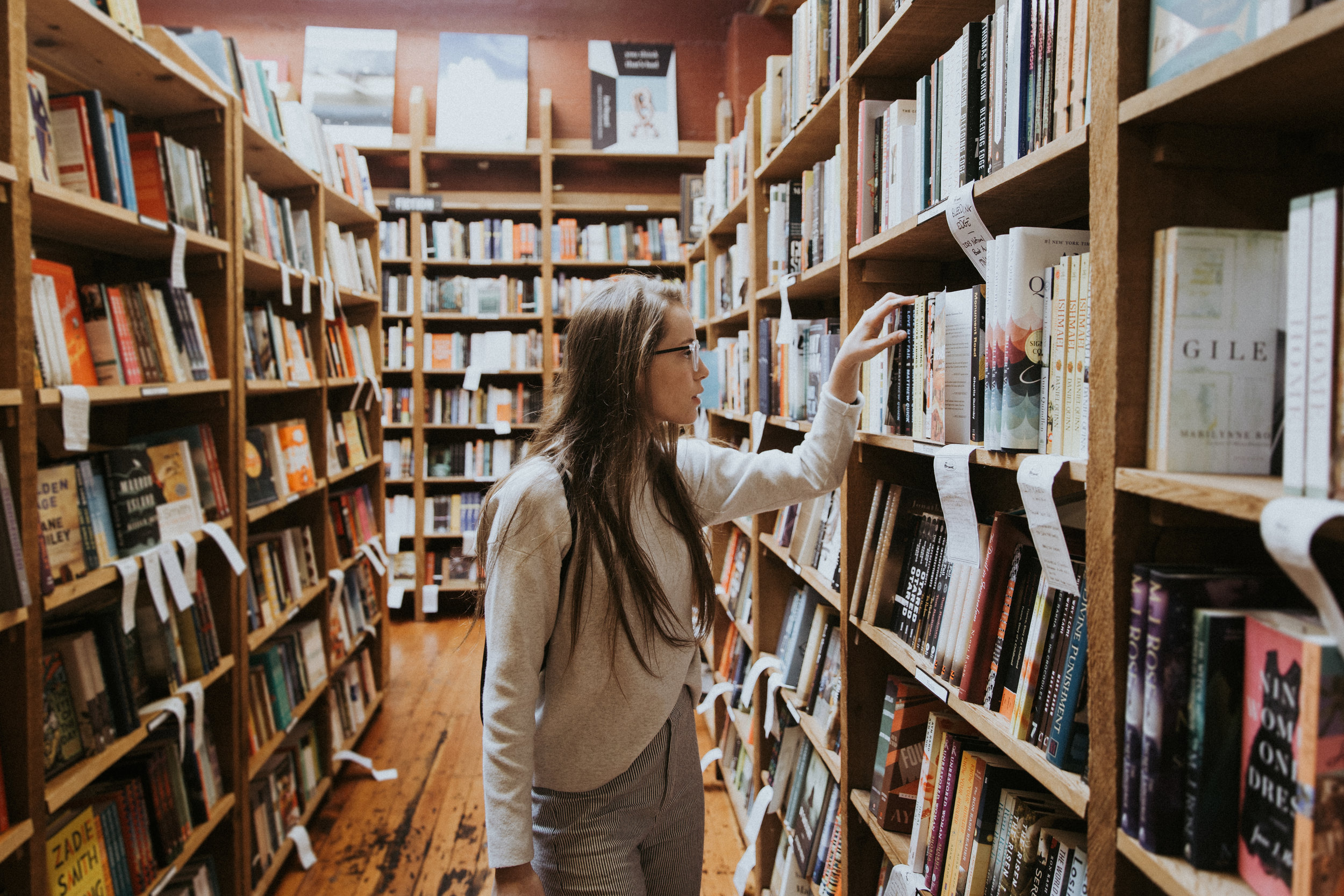 How do you find a book in a library?