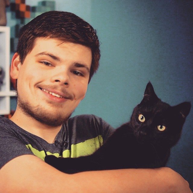 Shooting tomorrow's video, had an unexpected cameo. I didn't mine. #cat #studio
