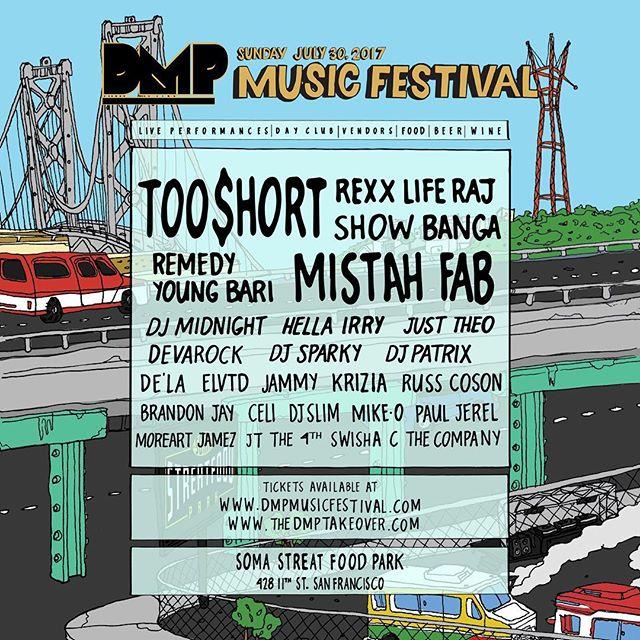 DMP Music Festival happens July 30 @somastreatfoodpark get ur tix now! #djpatrix #dmpgroup #somastreatfoodpark