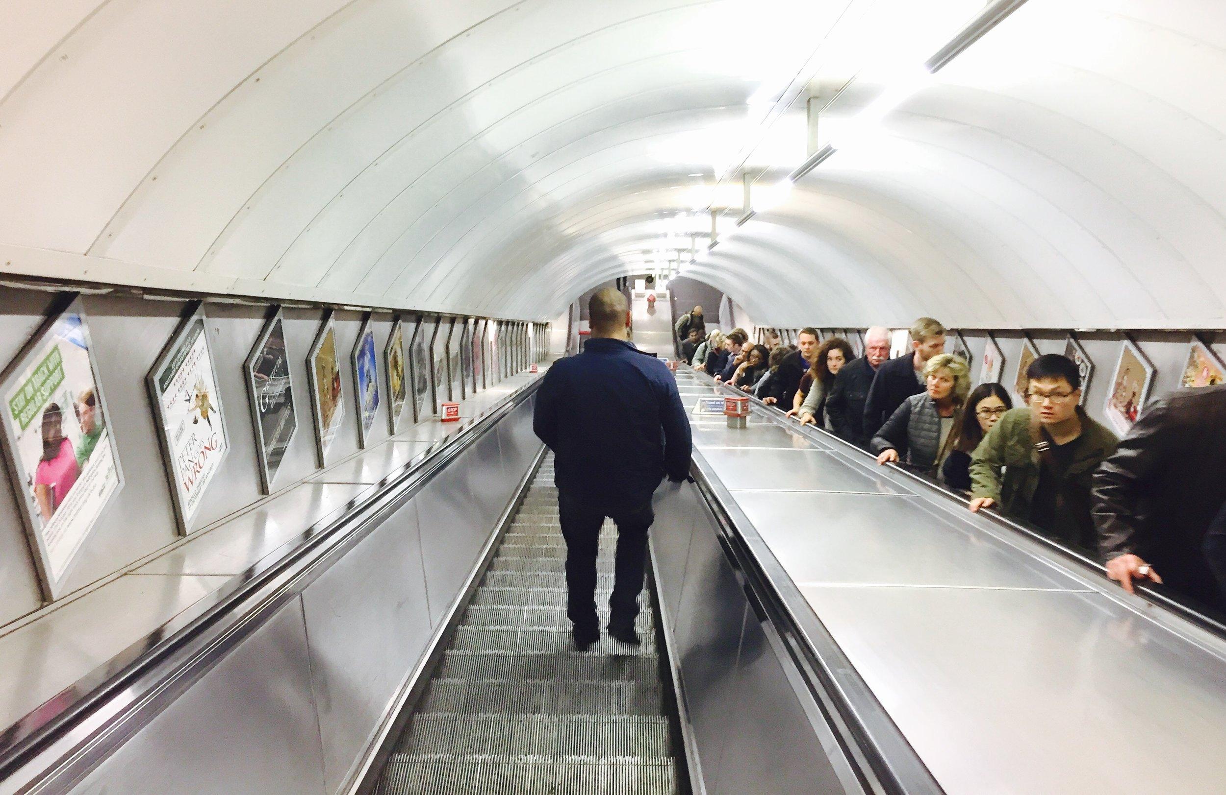 Heading underground.