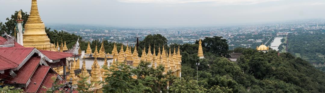 Mandalay Hill over looking Mandalay City.