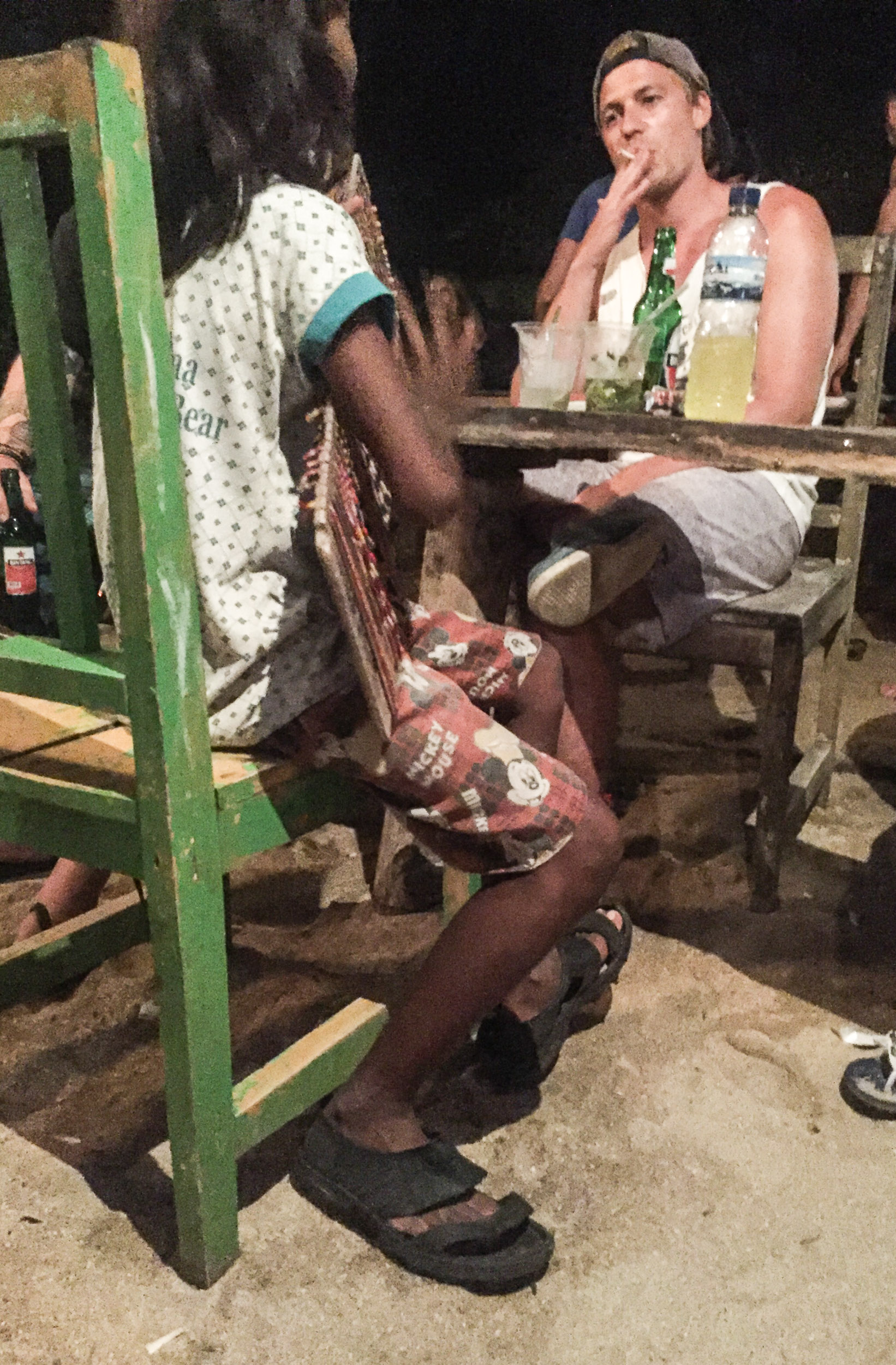Check out her feet... Looks like a tough customer!