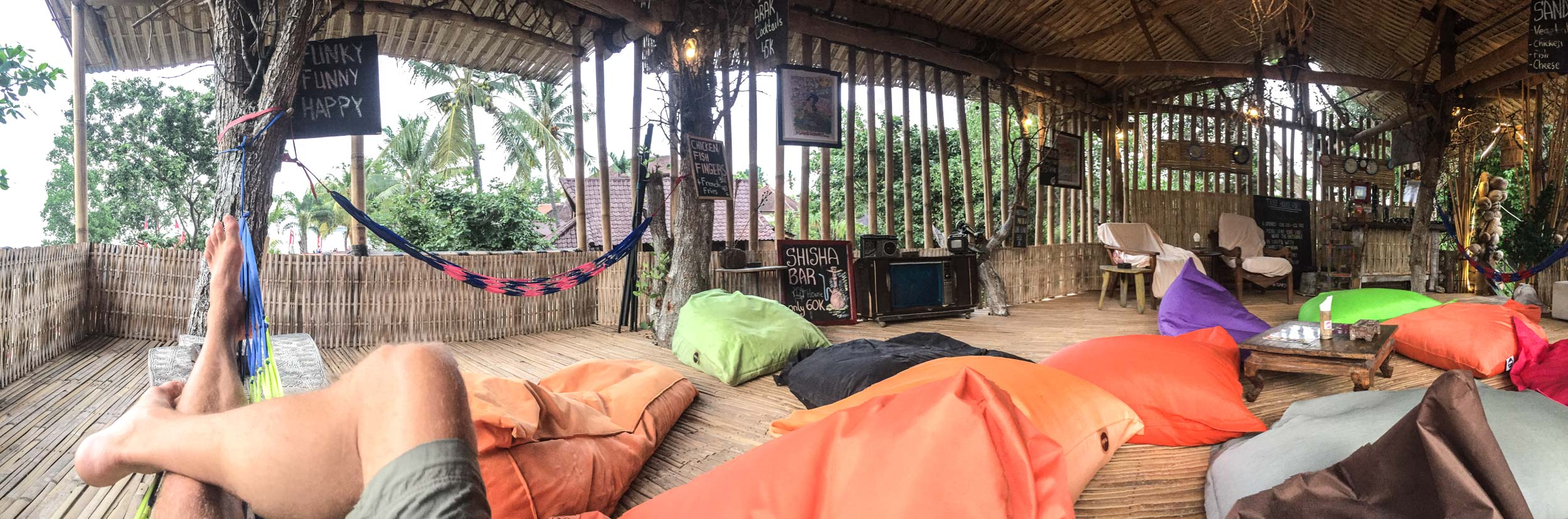 The chill out area at The Funky Place Hostel.... All to myself....