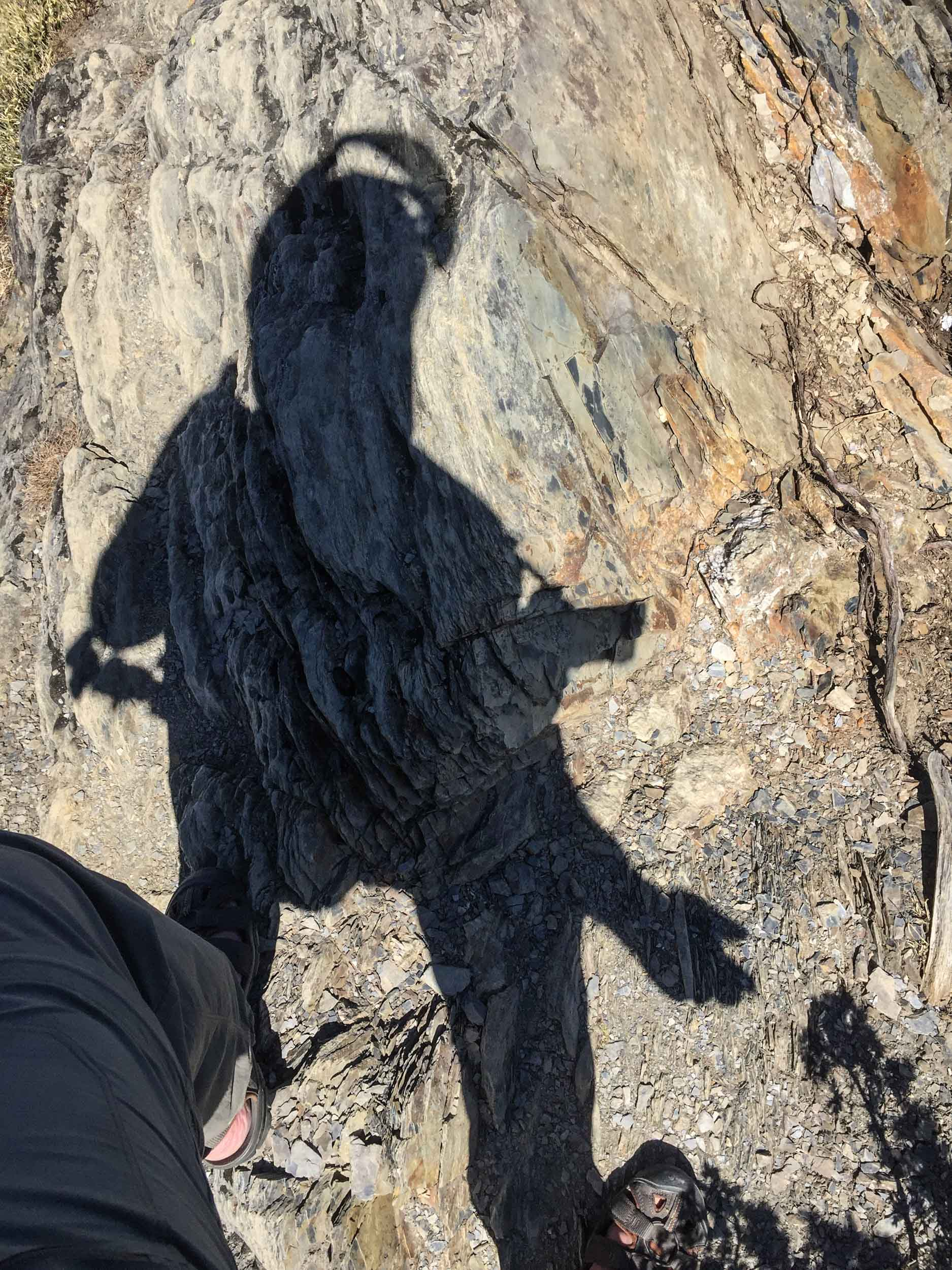 It was only when I spotted my shadow that I realised that yet again I had walked 15 minutes to the top of a view point whilst still wearing my motorcycle helmet. What a helmet!!!