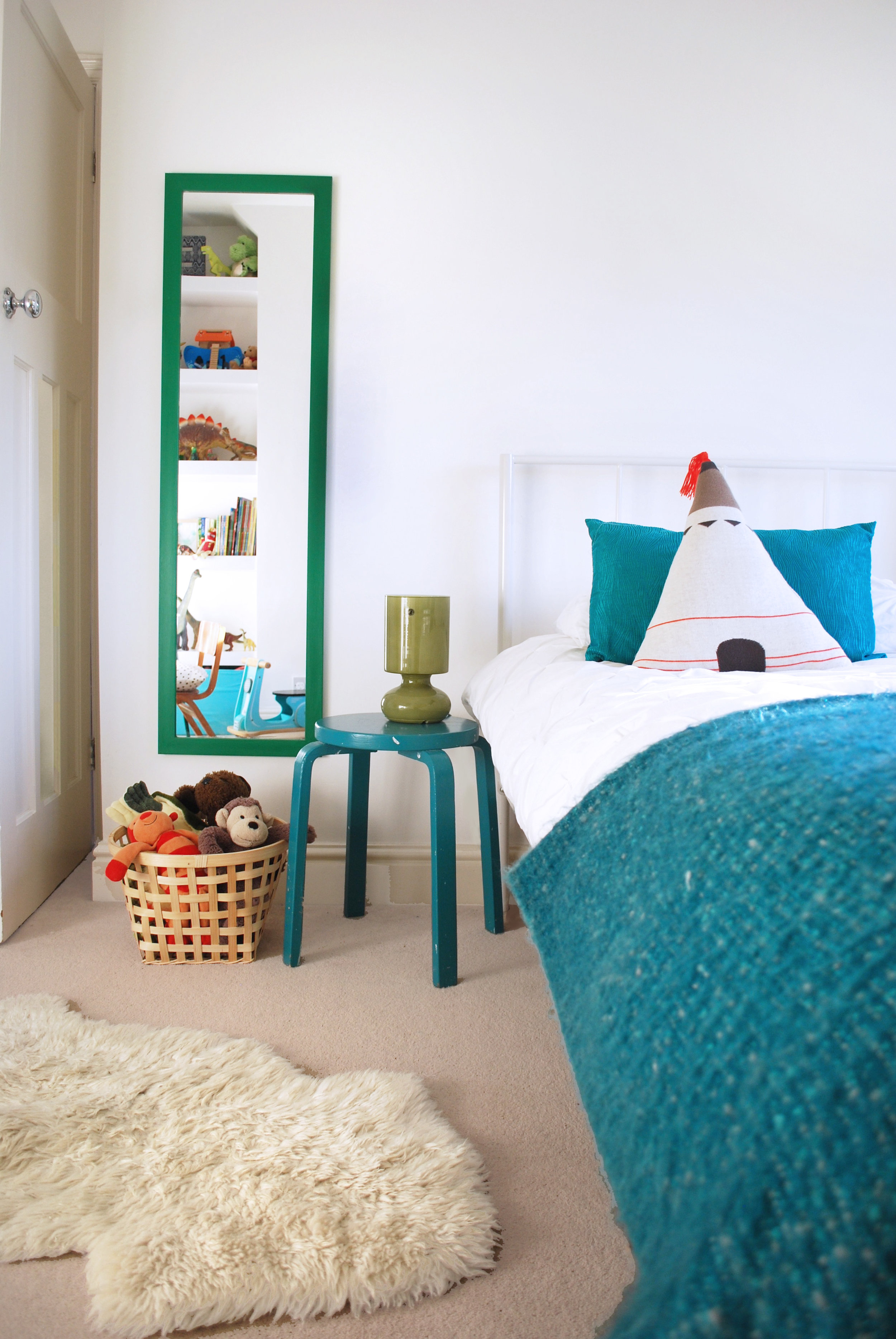 Boys green side table and white bedroom.jpg