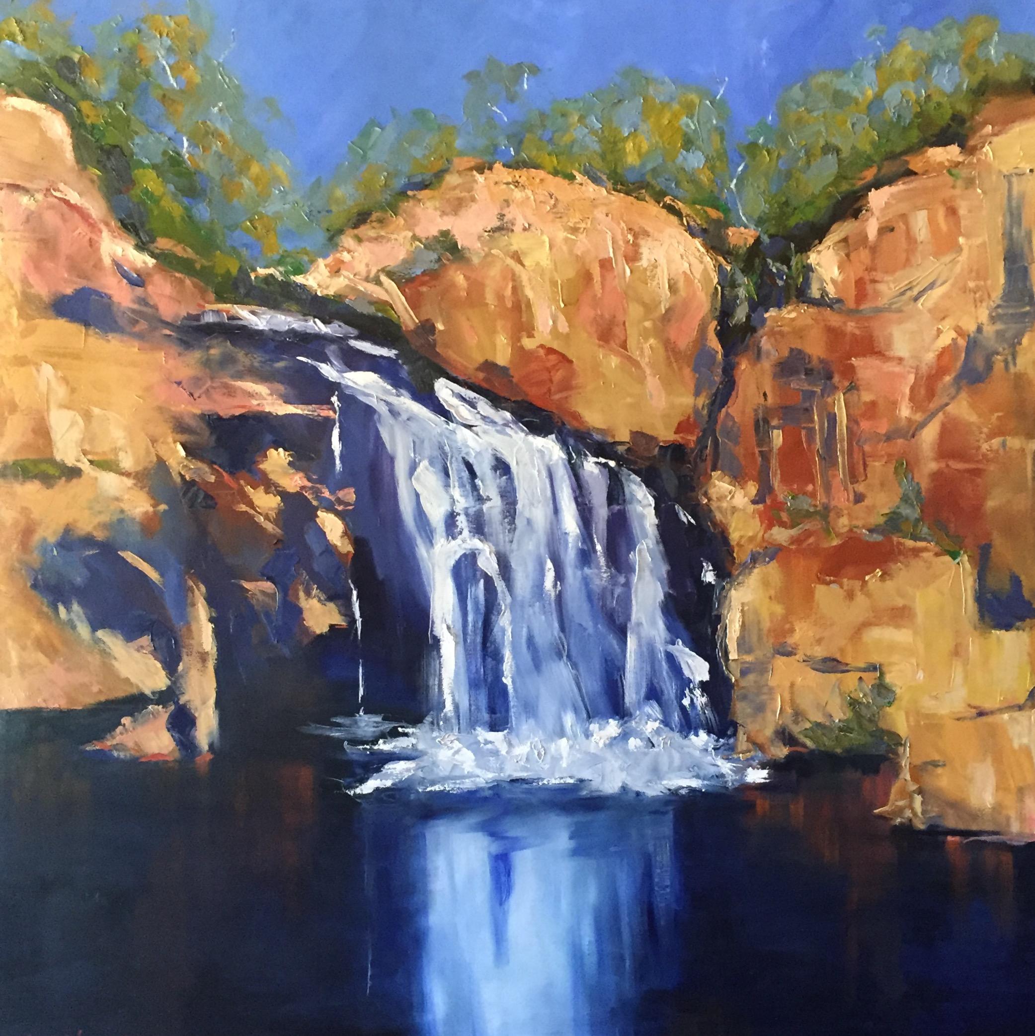 "Edith Falls   60"" x 60""  oil on canvas"