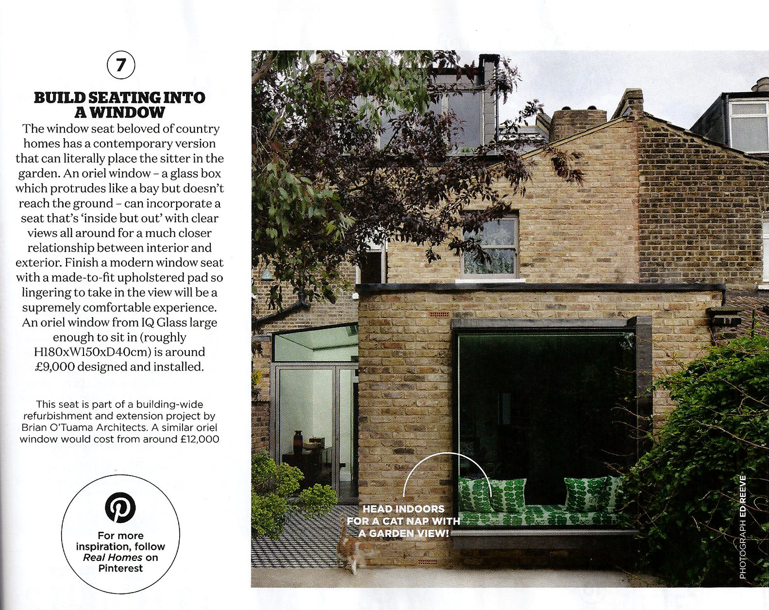 The oriel window from one of our London Fields projects is featured in the July issue of Real Homes
