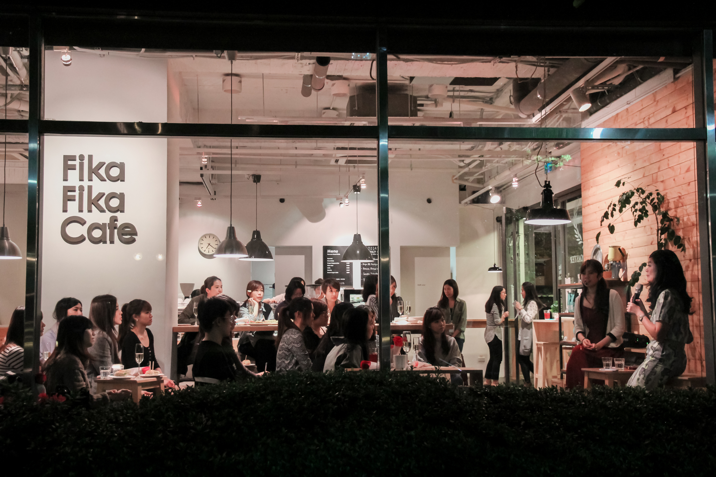 The session was held at Fika Fika Cafe , a cozy place with excellent coffee and food.