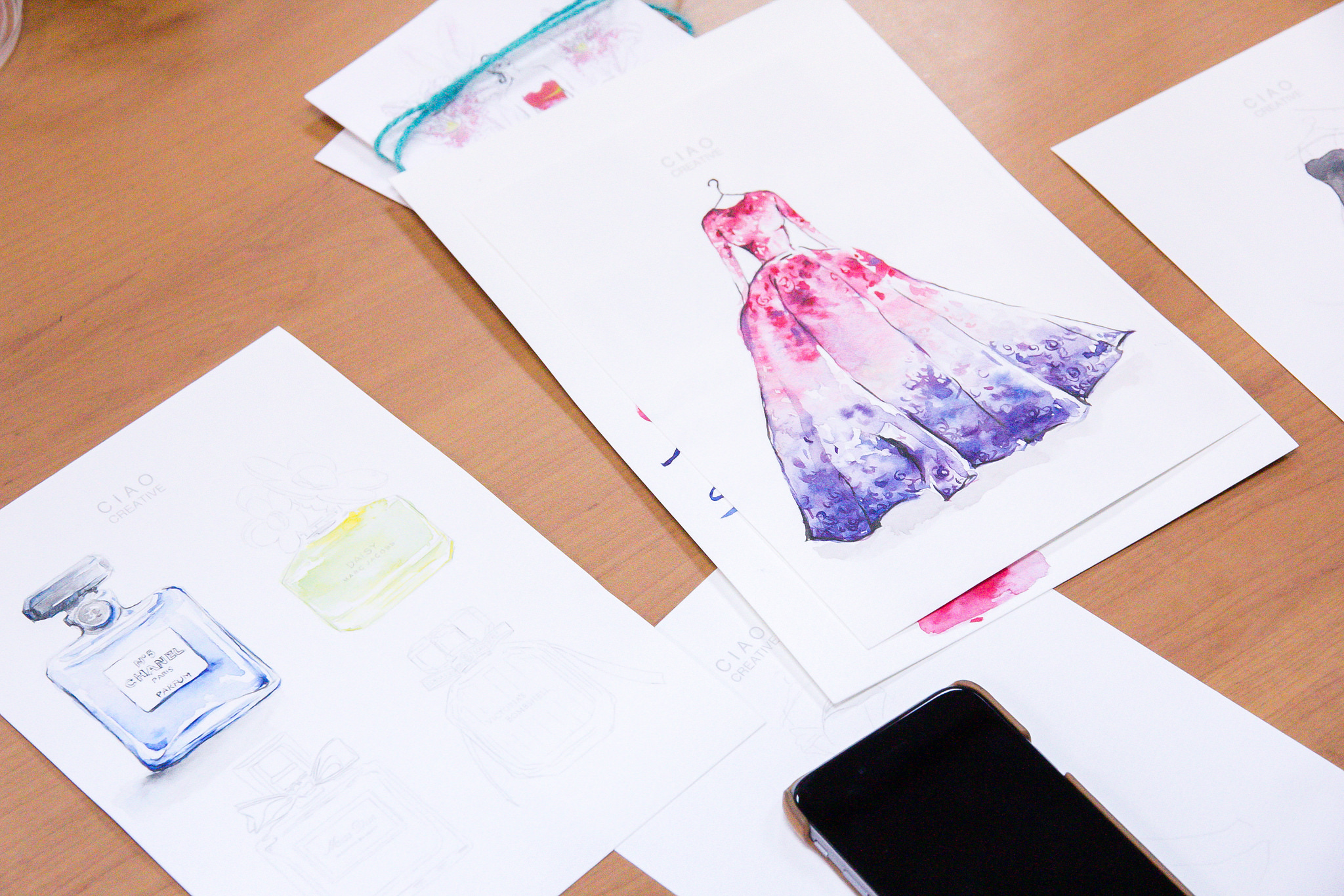 A stunningElie Saab Illustration by one of the workshop attendees