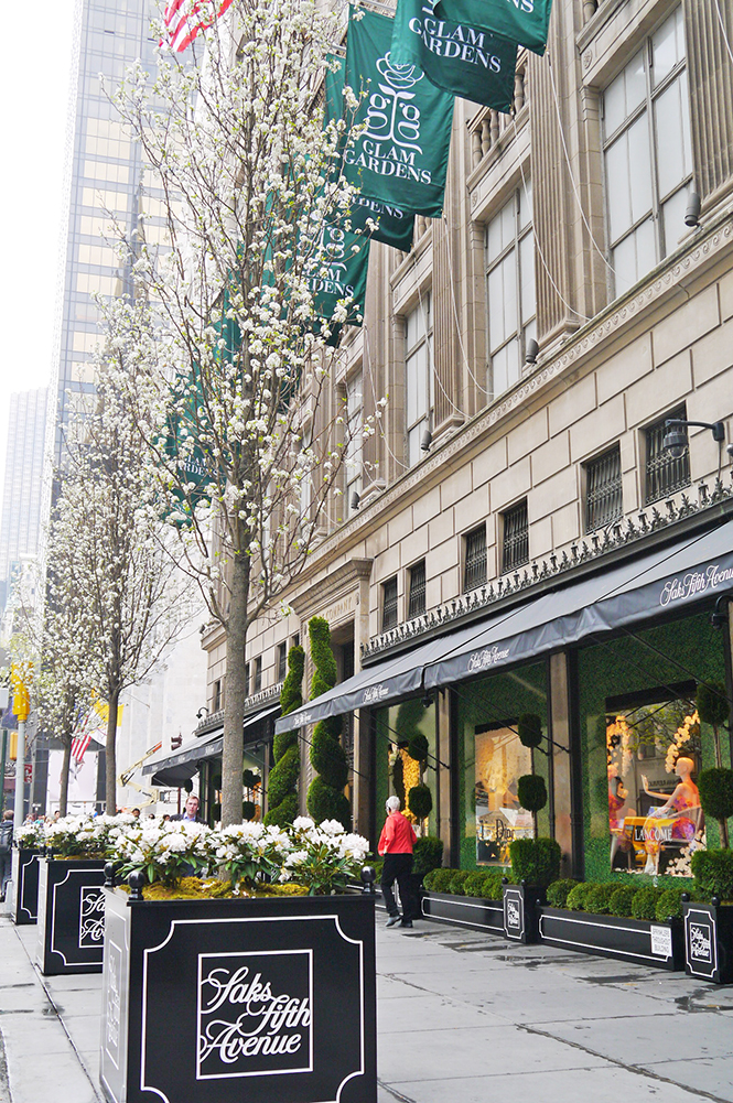 Don't forget to stop by Saks New York's  Glam Gardens Windows ,  Photo Credit:  Saks Fifth Avenue