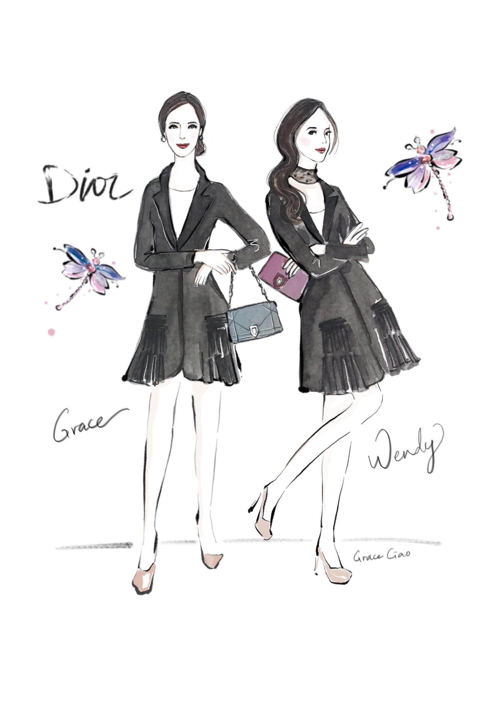 grace-ciao-fashion-illustrator-flower-artist-dior-diorama-club-bag-luxury-event-launch-3
