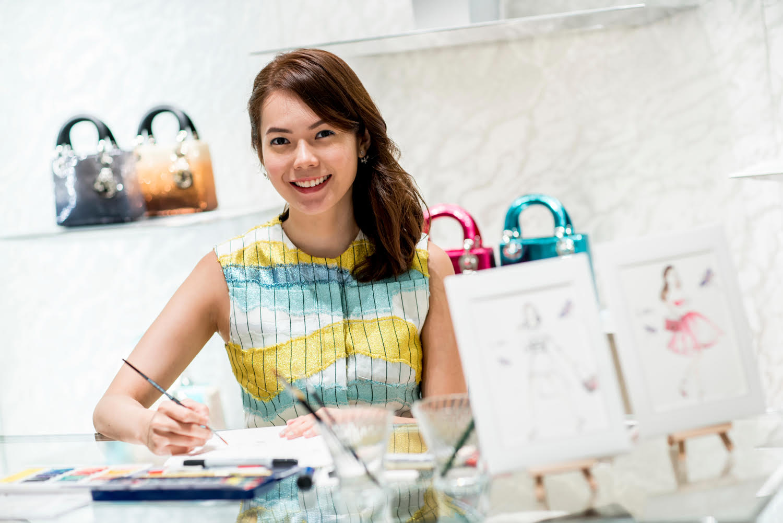 grace-ciao-fashion-illustrator-flower-artist-dior-diorama-club-bag-luxury-event-launch-5