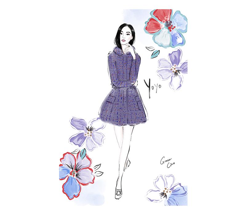grace ciao fashion illustrator singapore artist live illustration yoyo cao yoyokulala