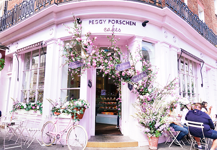 Peggy Porschen - Another place worth stopping for your insta-worthy pictures is Peggy Porschen with their quintessential pink façade. Even the food served is so pretty!Surely no one will blame you for stopping to take some (read: many) photos to share with your friends!(Photo by me, shot on my Sony RX100V)
