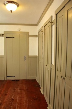 antique style double closet doors