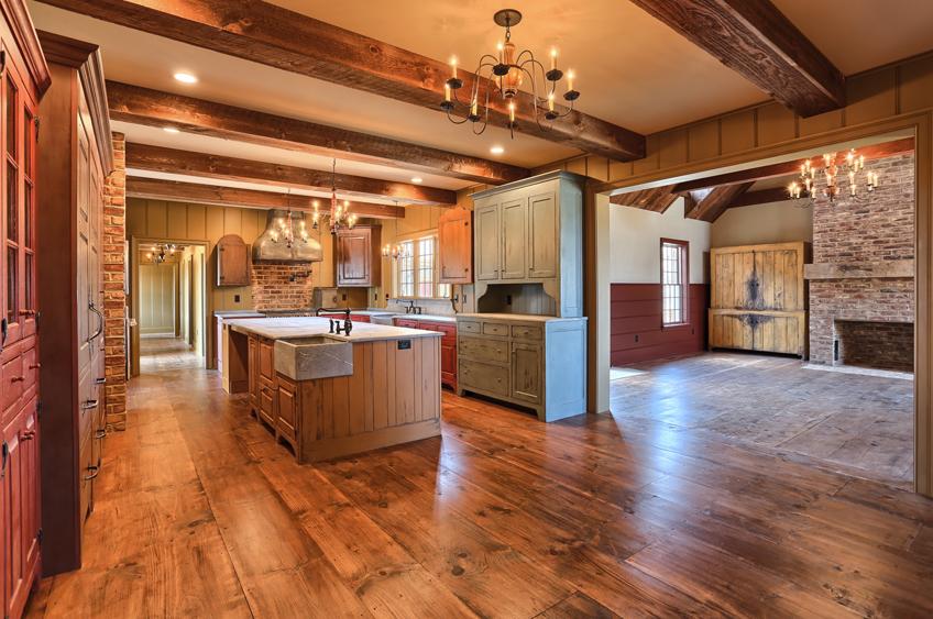 Classic Colonial Homes Interior Farmhouse Kitchen