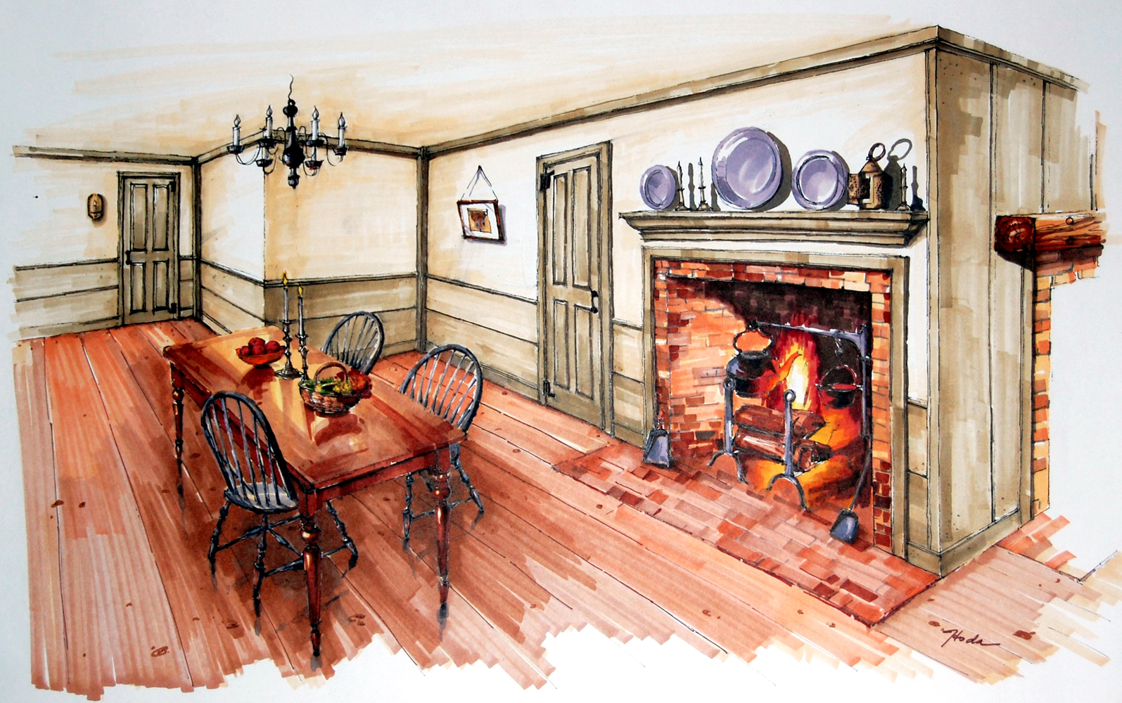Classic Colonial Homes Eat-in Kitchen Design