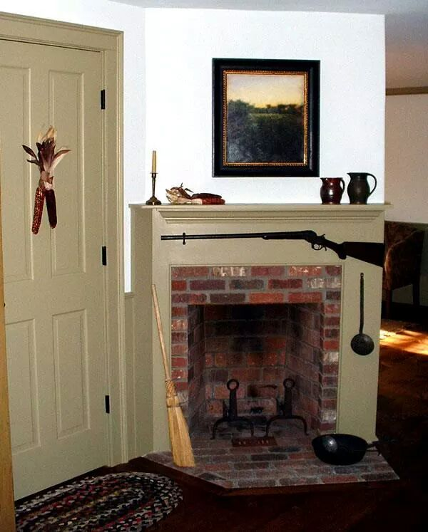 Classic Colonial Homes Interior Fireplace
