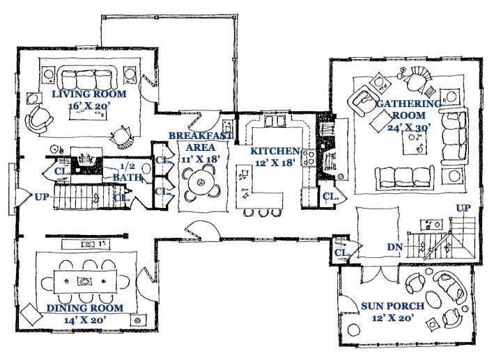 Springfield Gambrel First Floor
