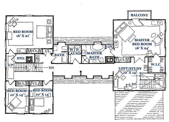 Springfield Gambrel Second Floor