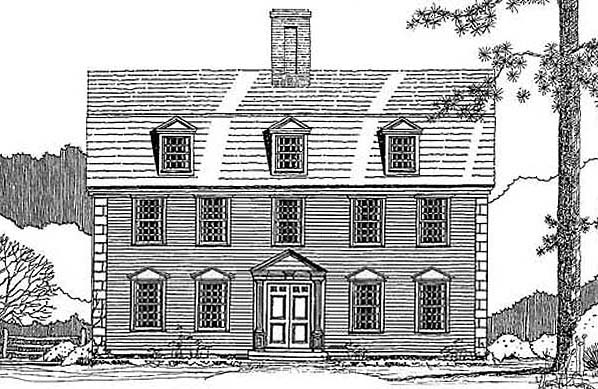 New Gambrel One Front Elevation