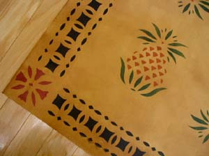 Pineapple Floor Cloth→