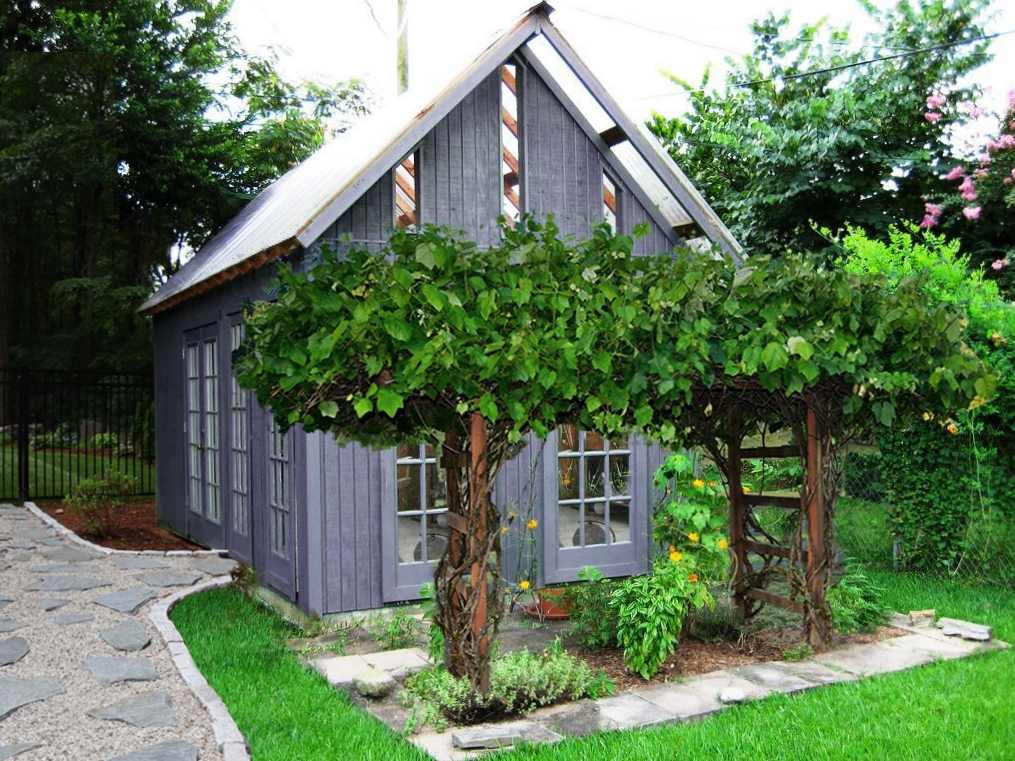 classic colonial garden shed