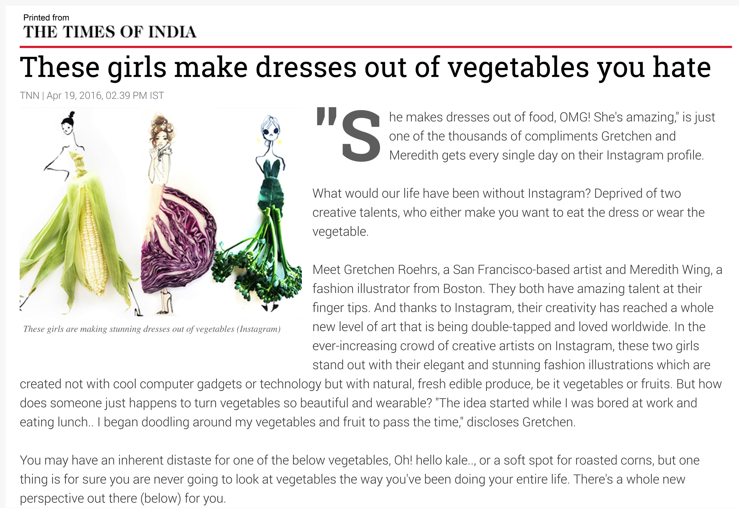 These girls make dresses out of vegetables you hate - Times of India-1.jpg