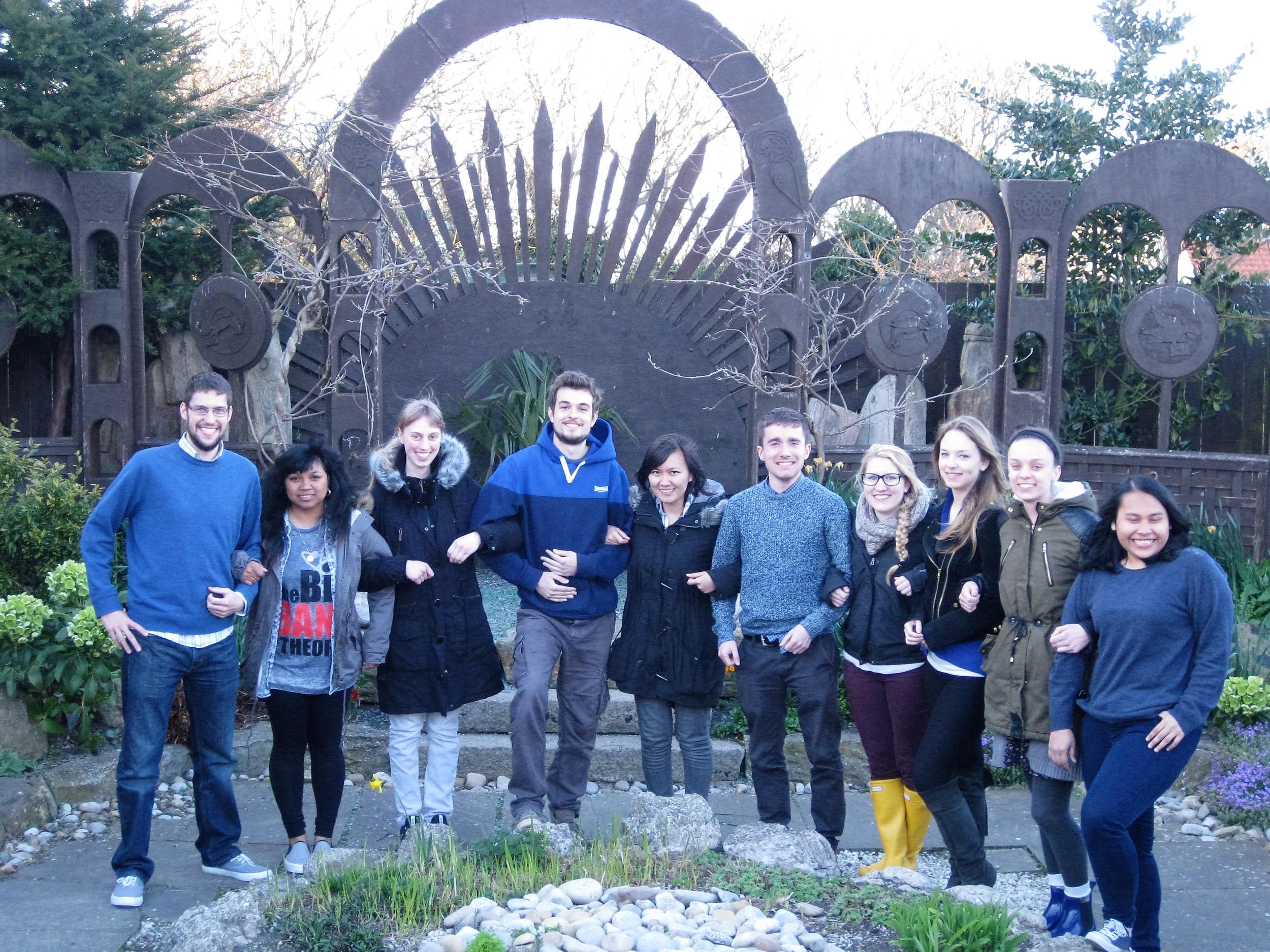 Left to right: Paul (England), Vonin (Madagascar), Julia (Germany), Matteo (Italy), Aselia (Indonesia), Paul (Ireland), Amelia (USA), Franzi (Germany), Maggie (USA), Devita (Indonesia)