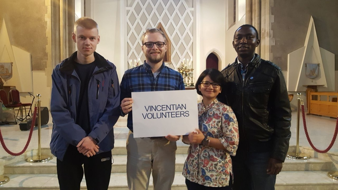We have volunteers from all over the world serving with us for the year.